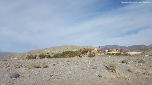 Passing by The Inn at Death Valley.
