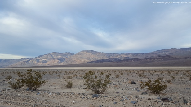 View from Panamint Valley Road at Death Valley National Park in California.