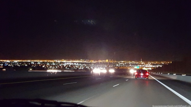 We could see the city lights from miles and miles away as we were approaching the Sin City, Las Vegas.