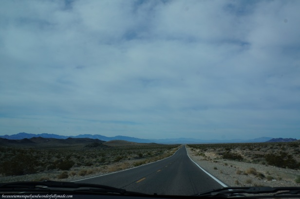 A glimpse of Death Valley in the distance.