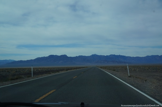 Cruising through Nevada and California via Bell Vista Road as we approach Death Valley National Park.