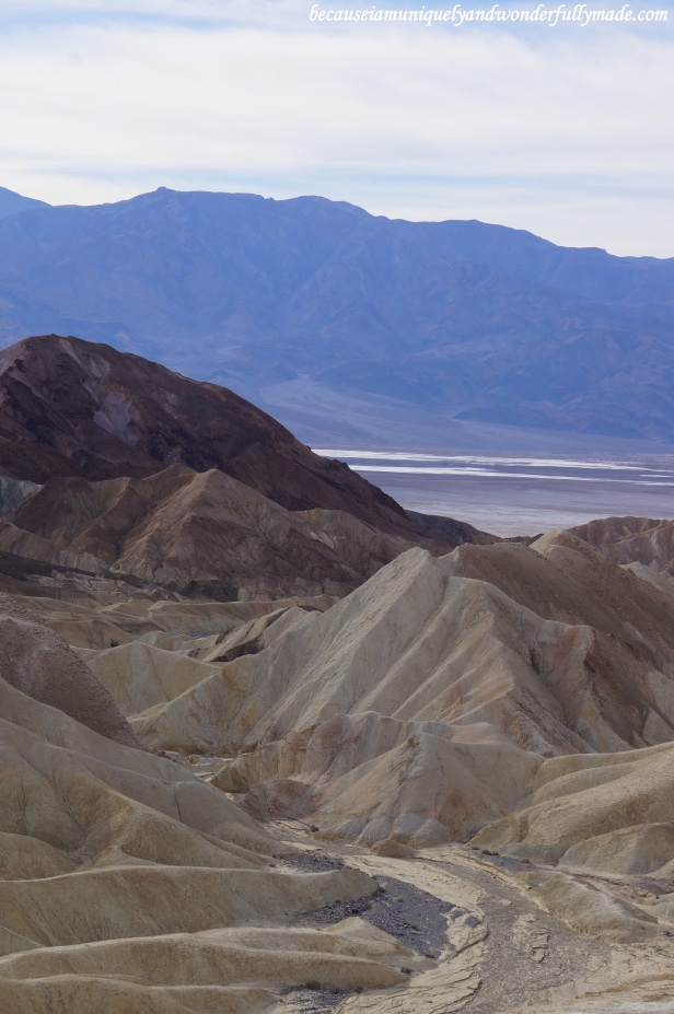 Zabriskie Point in Death Valley National Park in California.