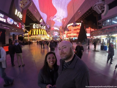Another photo of us at the old Las Vegas Strip (Fremont Street) in Las Vegas.