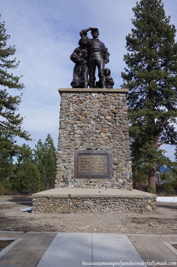 The memorial at the Donner Pass.