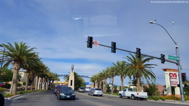 Passing through Boulder City in Nevada.