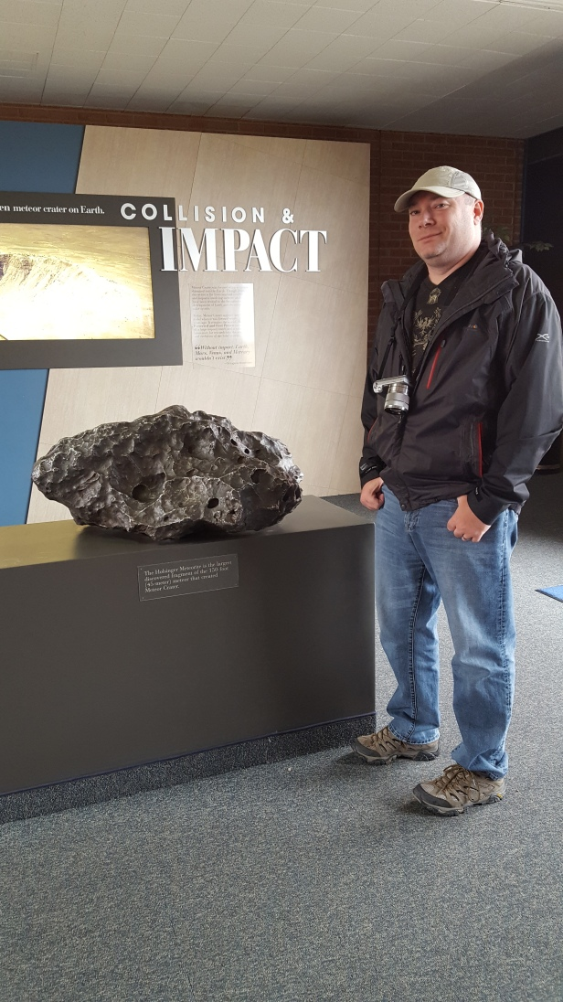 The Holsinger Meteorite is the largest discovered fragment of the 150-foot (45 meter) meteor that created Meteor Crater in Arizona.