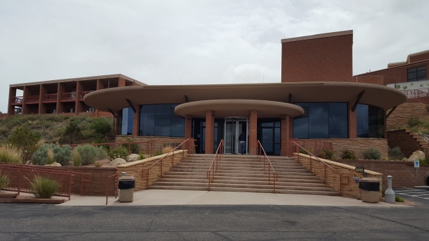 The Meteor Crater Visitor Center in Arizona.