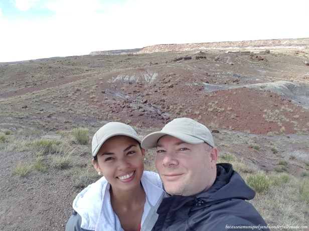 Early spring at Petrified Forest National Park in Arizona and the park is almost all to ourselves.