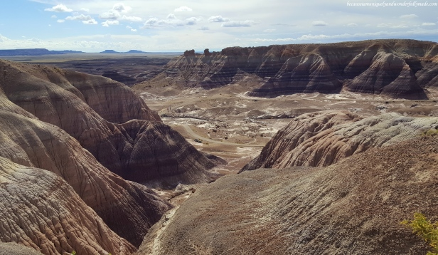 The beautiful badlands of Petrified Forest National Park in Arizona.