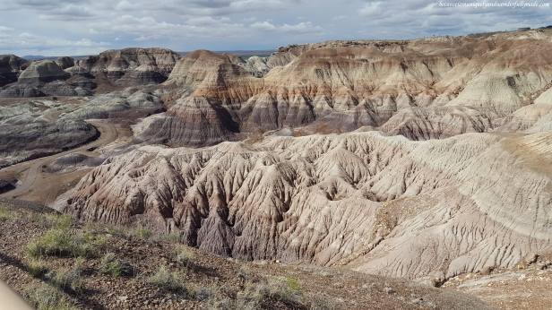 The gorgeous badlands of Petrified Forest National Park.