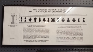 An article explaining the symbols on the I-beam and other recovered aircraft parts during the Roswell Crash in Roswell, New Mexico.