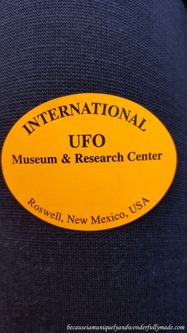 Attendance sticker at International UFO Museum and Research Center in Roswell, New Mexico.