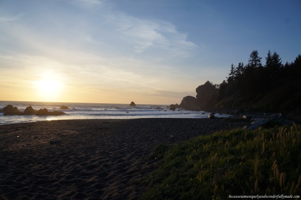 Sunset at Wilson Creek Beach, Klamath, California