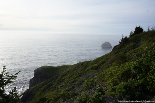 Panoramic view of the Pacific Ocean from the High Bluff Overlook.