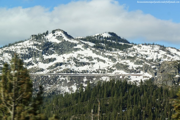 Snow still powders some California mountains in spring.