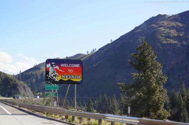Crossing the Nevada border.