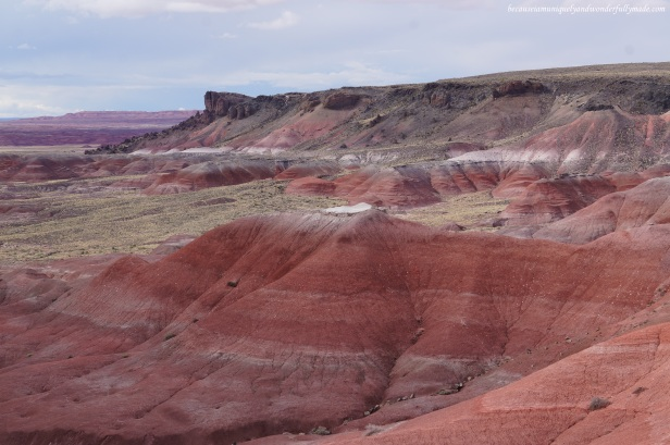 The Painted Desert as seen from Lacey Point in Petrified Forest National Park in Arizona.