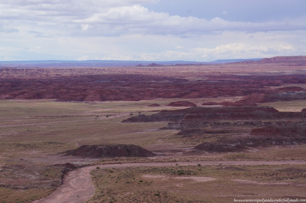 The gorgeous Painted Desert as seen from Pintado Point in Petrified Forest National Park in Arizona.