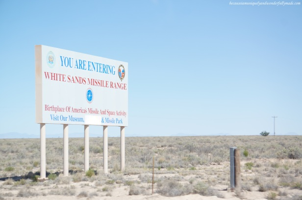 The White Sands National Park is within the White Sands Missile Range.