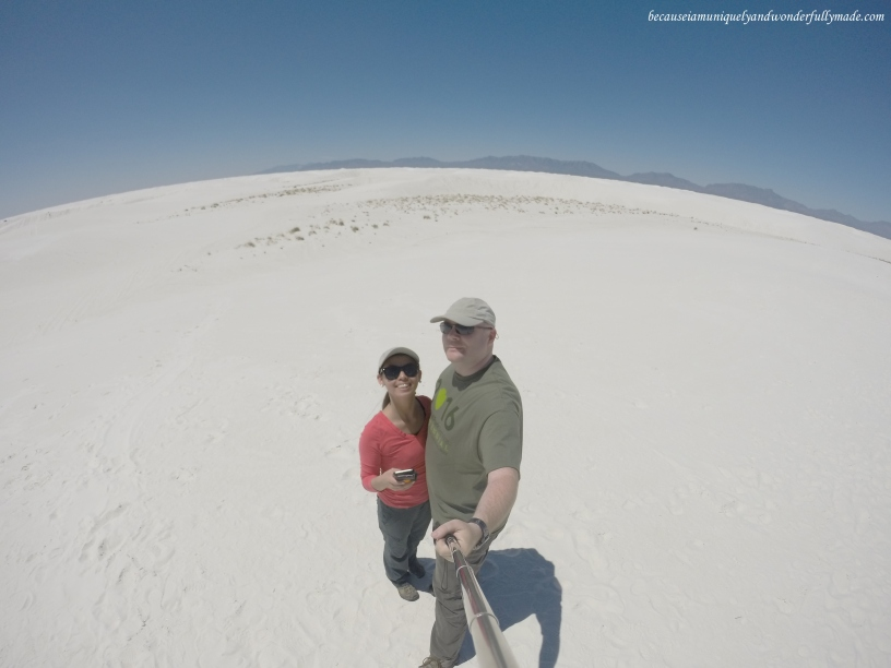 At White Sands National Monument in New Mexico.