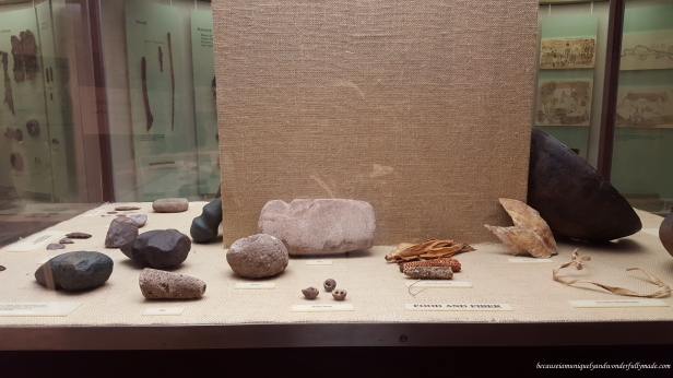 Some of the highlight exhibits at Gila Visitor Center are hand made pottery, stone tools, and jewelry crafted by Zuni, Apache, Hopi, and other regional tribes.