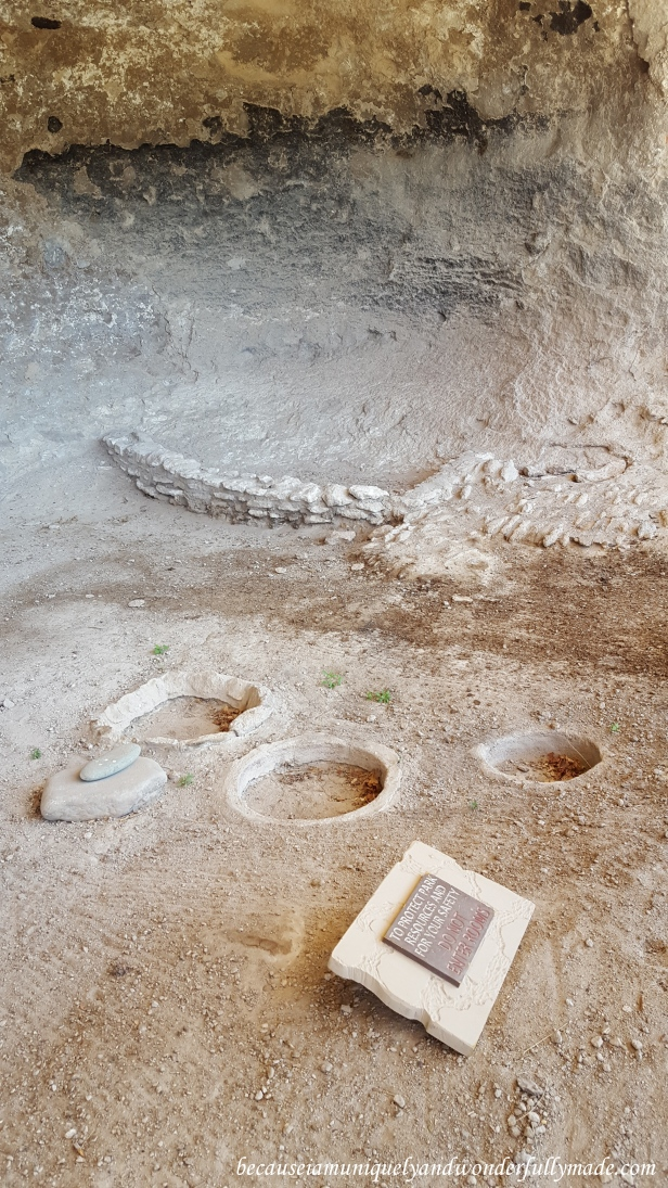 I believe these were firepits inside the cliff dwellings. A proof of a civilization that once flourished here.
