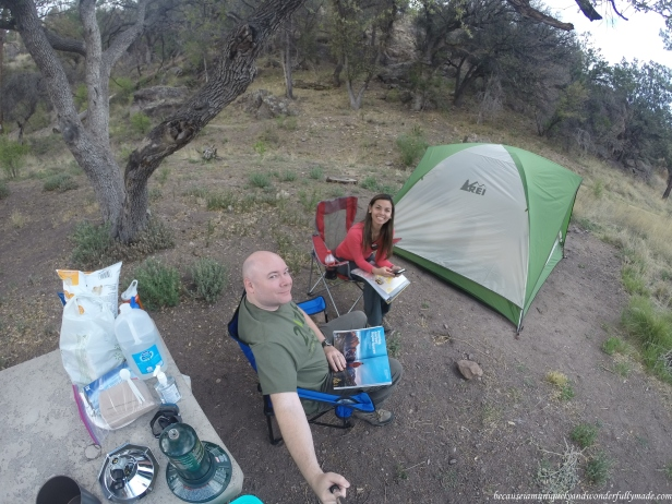 My husband and I's first camping experience in the United States at Gila National Forest in New Mexico.