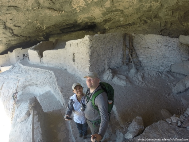 The Mogollon people accessed these dwellings with retractable wooden ladders.