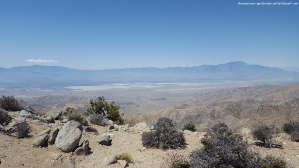 Panoramic view from Key's View in Joshua Tree National Park.