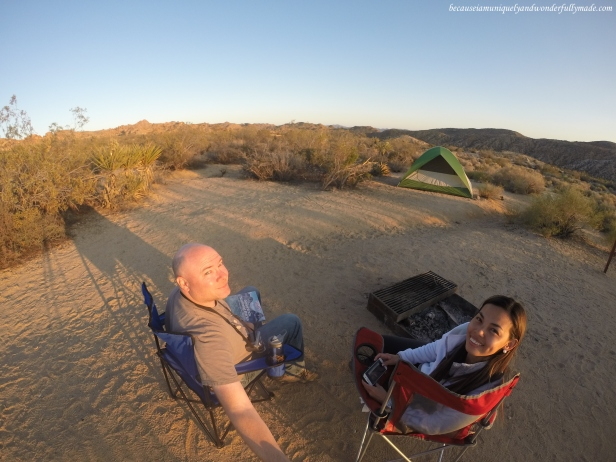 Our second camping experience at Cottonwood Campground at Joshua Tree National Park.