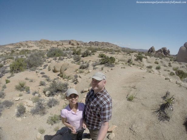 Photo opportunity as we were approaching the Skull Rock Formation at Joshua Tree National Park.